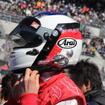 父と同じデザインのジュリアーノのヘルメット