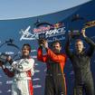 左より2位のドルダラー、優勝のイワノフ、初表彰台獲得のルボット(レッドブル・エアレース 開幕戦)