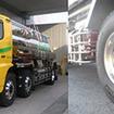 ミシュラン XOneを装着した三和運輸の食品タンクローリー車