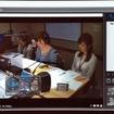 日本気象協会内にあるスタジオ。奥に気象情報や交通情報を表示するモニターがあるのがわかる