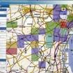 交通の混雑情報がメッシュ単位で分かるようになっている
