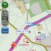 地図上での交通規制情報アイコン