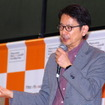 アマネク・テレマティクスデザインCEOの今井武氏によるプレゼンテーション(ATTT16)