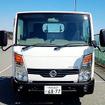 大磯で、1月にマイナーチェンジしたNV350キャラバンや海外向けタイタンやナバラなど、日産の小型商用車(LCV)ラインナップの展示・試乗が行われた