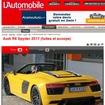 新型 アウディ R8 スパイダーをスクープした『automobile magazine』