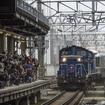 札幌駅4番ホームに入線する上り最終『カシオペア』の回送列車。