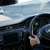 VWの最先端安全技術を自ら体験できる絶好の機会となった