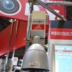 屋外用の広範囲監視を想定したドーム型カメラ。水平0度~350度、垂直-30度~90度のパン・チルト機能、最大36倍のズーム機能を搭載している(撮影:防犯システム取材班)