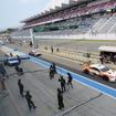 SUPER GT富士公式テスト2日目(27日)は好天のもとでの開催になっている