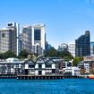 シドニーを出港、海から見たシドニーの街
