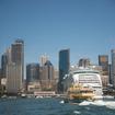 シドニーを出港、海から見たシドニー湾岸