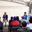 3月27日のスバルファンミーティングでは、スバルBRZ開発責任者・乾保氏とモータージャーナリスト・河口まなぶ氏によるトークセッションも行われた(栃木県佐野市・スバル研究実験センター)