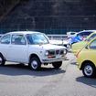 スバルの旧車たちも勢ぞろい(3月27日、スバルファンミーティング、栃木県佐野市・スバル研究実験センター)