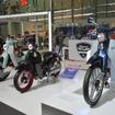 新規コンセプトモデルはスーパーカブ コンセプトと並んで展示された