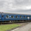 苗穂工場で保管されている元『北斗星』客車のオハネフ25 2。クラウドファンディングで目標額に達した場合、北斗市内に移送して保存する。