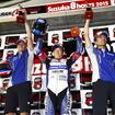 鈴鹿8耐SSTクラスで優勝したヤマハ社員チーム「team R1 & YAMALUBE」