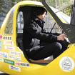 モデルの早稲田環境研究所・佐藤雄氏は178cmと長身だが、このとおり余裕で乗れる。