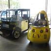 ULV-Ⅲと並んだHOKUSAI(左)。墨田区ではこのデザインの車両が走る予定だという。