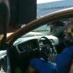 S60の自動ブレーキデモ