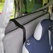 乗用車として仕様時には、後席後ろのスペースにベッドマットを収納できる