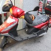 Wangさんの電動バイク。配達、仕入れなど仕事でほぼ毎日使うそうだ
