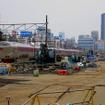工事中の田町車両センター