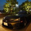 東京都千代田区のパレスホテルに登場した艶消しブラックのレクサス LFA
