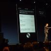 アップルの開発者向けイベントWWDC 2012(Apple World Wide Developpers Conference 2012)の基調講演、iOS 6のプレゼンテーションの様子。
