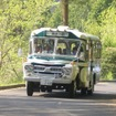 ボンネットバスによる無料シャトルバス