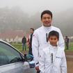 澤野浩康さんと息子の浩輝くん