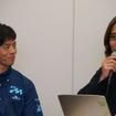 「KOMATTI-MIRAI RACING」チーム代表の岸本吉広氏と、グッドスマイルレーシング代表の安藝貴範氏