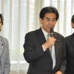 自民党オートバイ議連、逢沢一郎会長(中)今村雅弘幹事長(右)、三原じゅん子事務局長(左)