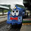 今年も運転される青い蒸気機関車「SLくん」。大井川鐵道のキャラクターを「実車化」した。