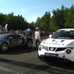 ブガッティヴェイロンと日産ジューク R レプリカの加速競争