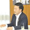 義務化を検討するなら、助成も必要と話す笹川博義代議士(26日・自民党本部)