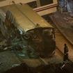 スペイン高速列車事故の現場。保安システムの不備が焦点となっている