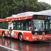 新しい交通システムとして注目を浴びるBRTだが、車両自体は一般的なバスと同じ。写真は気仙沼線BRTで運用されている日野ブルーリボンシティ・ハイブリッドのLNG-HU8JMGP。