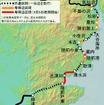 柳津~気仙沼間を結ぶ気仙沼線BRTの路線図。当初は専用道が約2kmしかなかったが、その後も順次整備され、9月5日ダイヤ改正時点で専用道の距離は約22kmになった。