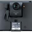 GP737VD本体の背面。専用カメラが装着され、専用ケーブルで接続されている