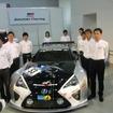 1月30日のトヨタ・モータースポーツ体制発表会。脇阪(右から2番目)はGAZOO Racingのニュル24時間参戦選手として出席していたが、SUPER GTでの去就は発表されなかった。
