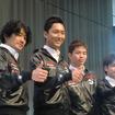 S耐に参戦するKONDO陣営。左から近藤真彦監督、藤井誠暢、佐々木大樹、高星明誠の各選手。