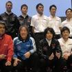 前列左から、鈴木豊(NISMO)、星野一義(IMPUL)、近藤真彦(KONDO)、大駅俊臣(MOLA)の日産GT500チーム各監督。