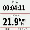 走行中にデータを表示する画面。表示するデータは自由にカスタマイズできる。