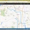 このようにブラウザで地図が表示され、走行中の現在位置が表示される。ただし、1分ごとの更新であって、青い点がスムーズに動いていくわけではない。