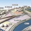 九州新幹線西九州ルート完成後の長崎駅とその周辺のイメージ図。武雄温泉~長崎間は2022年頃の完成が見込まれている。
