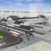 橋上駅舎化は岩槻駅と川俣駅で推進する。画像は本年度の完成が予定されている岩槻駅のイメージ。