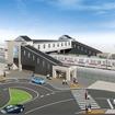 橋上駅舎化は岩槻駅と川俣駅で推進する。画像は2015年度の完成が予定されている川俣駅のイメージ。