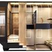 デラックススイート車はメゾネットタイプとフラットタイプを各1室用意する。画像のメゾネットタイプの透視イメージ。