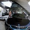 BMW i8の最初の量産車の引き渡し式。BMWのドイツ本社