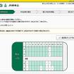 乗車日の「えきねっと」の6号車指定席予約画面